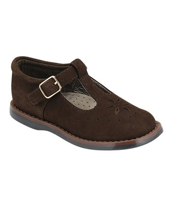 Brown Sherry T-Strap Shoe