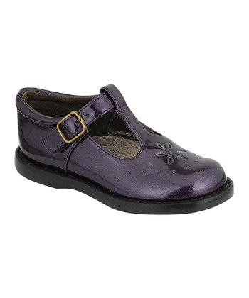 Purple Patent Sherry T-Strap Shoe