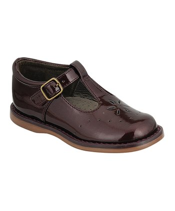 Raspberry Patent Sherry T-Strap Shoe