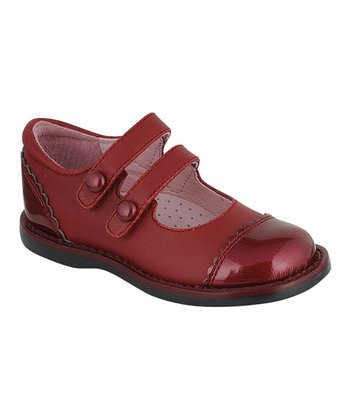 Dark Red Mackenzie Two-Strap Mary Jane