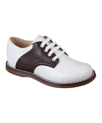 White & Brown Cheer Oxford