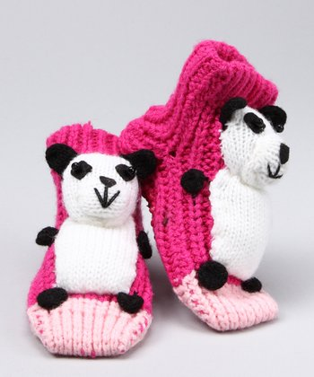 Foot Palz Pink Pandamania Gripper Socks - Kids