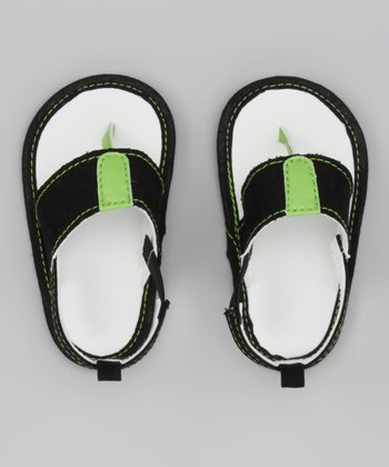 Black & Green Sandal
