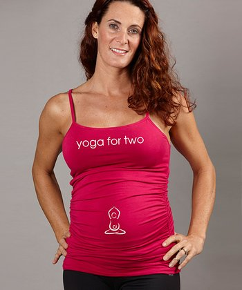 Berry 'Yoga For Two' Maternity Cami Tank