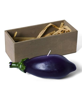 Eggplant Candle & Wooden Crate