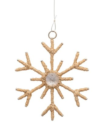 Jute Small Snowflake Ornament - Set of Six