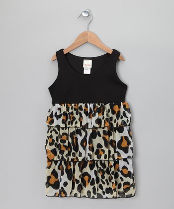 Black & Tan Leopard Dress