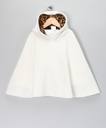 Ivory Fleece Poncho