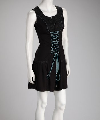 Black Lace-Up Dress