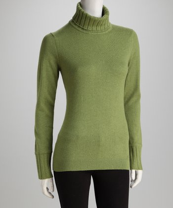 Forte Cashmere Juniper Ribbed-Trim Cashmere Turtleneck