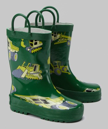 Green Construction Rain Boot