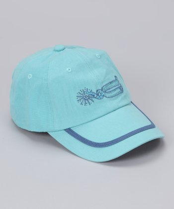 Light Blue Spur Bling Baseball Cap - Girls