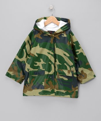 Green Camo Raincoat - Toddler & Kids