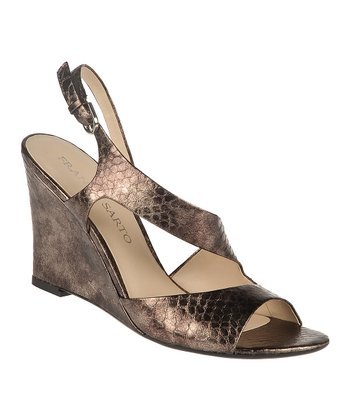 Pewter Gemma Wedge Sandal