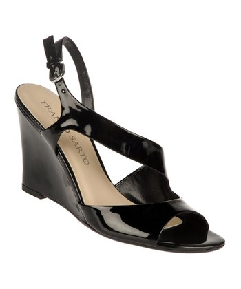 Black Gemma Wedge Sandal