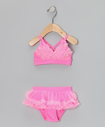 Pink Ruffle Bikini - Infant, Toddler & Girls