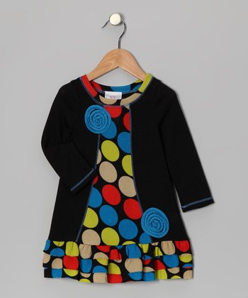 Black Lollipop Ruffle Dress - Toddler