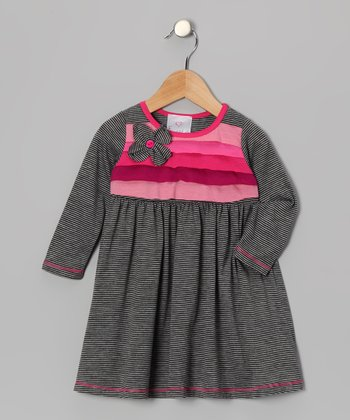 Gray Flower Corsage Dress - Toddler