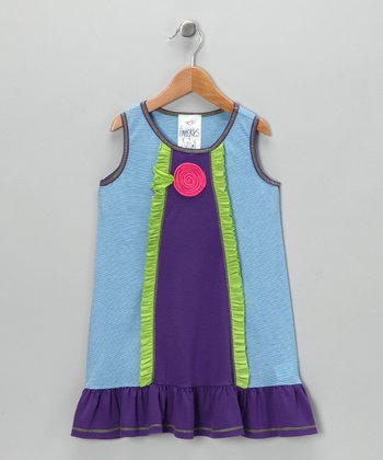 Blue Beach Babe Dress - Toddler