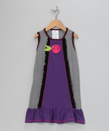 Purple Beach Babe Dress - Toddler
