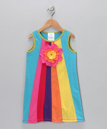 Turquoise Prism Dress - Toddler