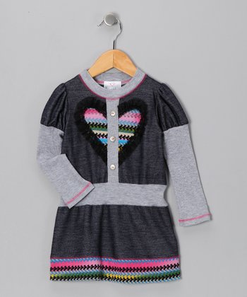 Denim Heart Dress - Toddler & Girls
