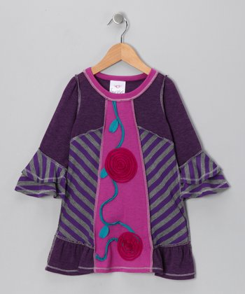 Purple Patchwork Dress - Toddler & Girls