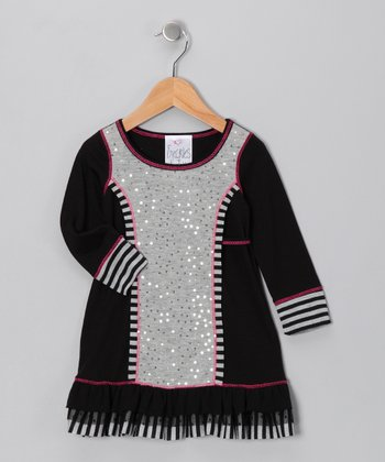 Black Sequin Dress - Toddler & Girls