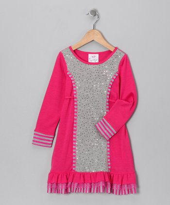 Fuchsia Sequin Dress - Toddler