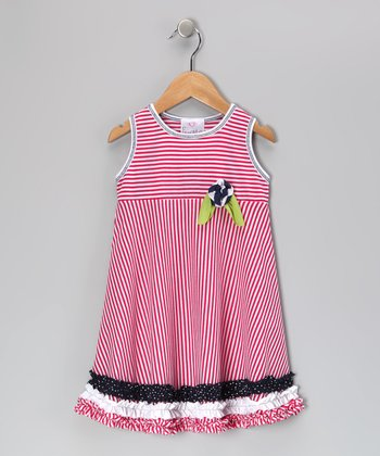 Red Ruffle Babydoll Dress - Toddler