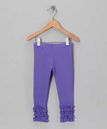 Periwinkle Ruffle Leggings - Toddler & Girls