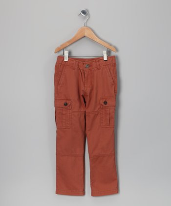 Fred Bare Washed Rust Cargo Pants - Infant, Toddler & Boys