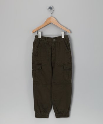 Army Green Cargo Pants - Boys