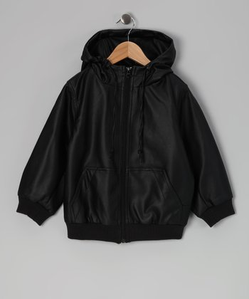 Fred Bare Black Faux Leather Jacket - Toddler & Boys