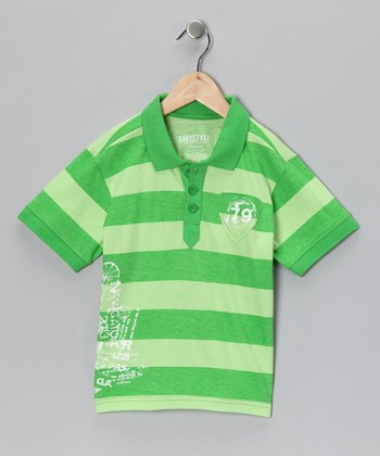Green Navigator Polo - Toddler