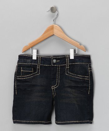 Deep Blue Sea Denim Shorts - Girls
