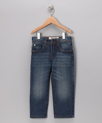 Blue Stone Straight-Leg Jeans - Toddler