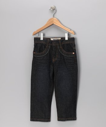 Dark Stone Wash Straight-Leg Jeans - Toddler & Boys