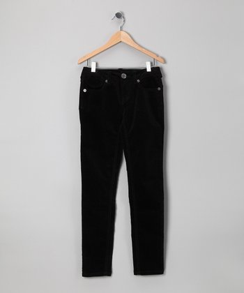 Black Skinny Corduroy Pants - Girls