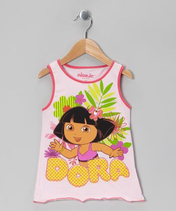 Pink 'Dora' Flower Tank - Toddler
