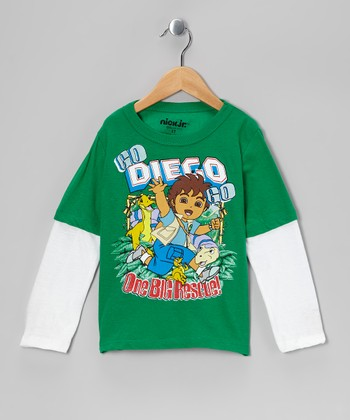 Green 'Go Diego Go' Layered Tee - Toddler