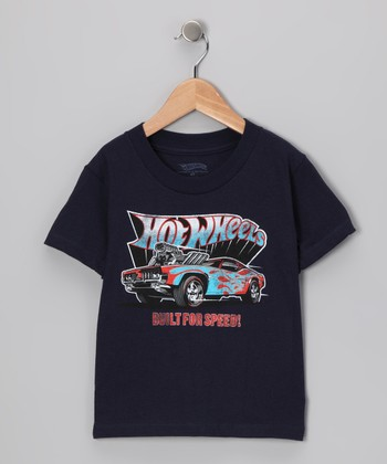 Navy Hot Wheels 'Built for Speed' Tee - Toddler