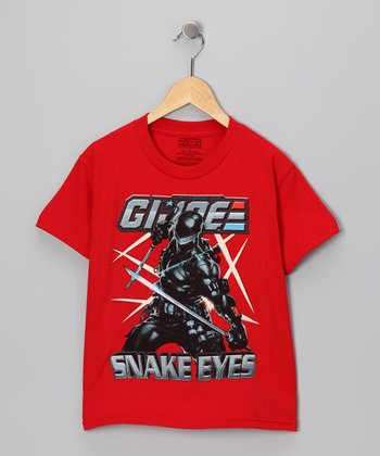 Red 'G.I. Joe Snake Eyes' Tee - Kids