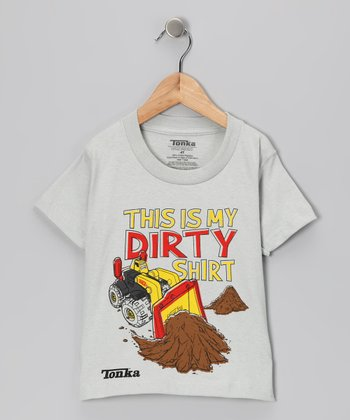Silver Tonka 'This Is My Dirty Shirt' Tee - Infant & Toddler