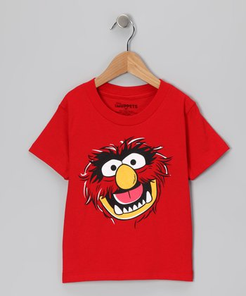 Red Muppet Animal Tee - Girls