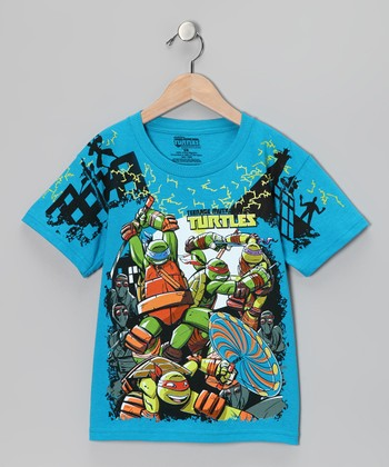 Turquoise 'Teenage Mutant Ninja Turtles' Tee - Kids