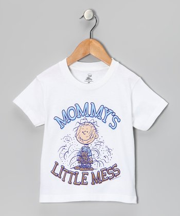 White Peanuts 'Mommy's Little Mess' Tee - Toddler