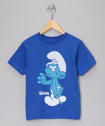 Royal Blue 'Smurfs' Tee - Kids