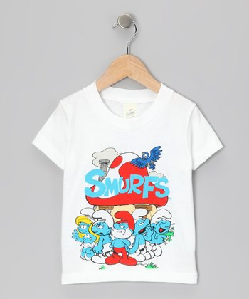 White 'Smurfs' Group Tee - Toddler