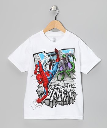 White Spider-Man & Lizard Tee - Kids